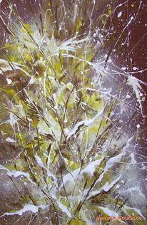 Abstrakt, Blütenzauber, Acrylmalerei, Malerei