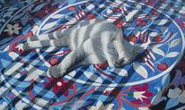Schatten, Katze, Malerei, Schlafende