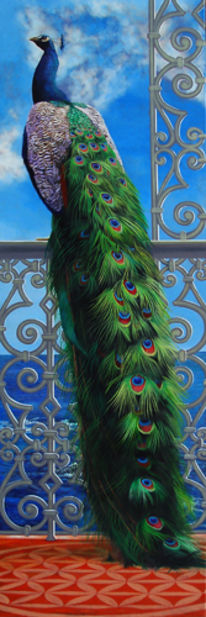 Meer, Ornament, Pfau, Malerei