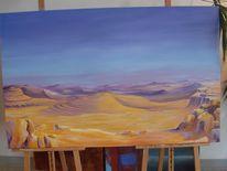 Negev wüste morgenstimmung, Malerei, Pflanzen, Wüste