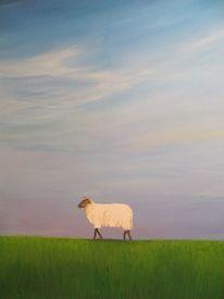Ostfriesland schafe himmel, Malerei, Pflanzen, Schaf