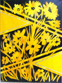 Gelb, Blumen, Glanz, Malerei