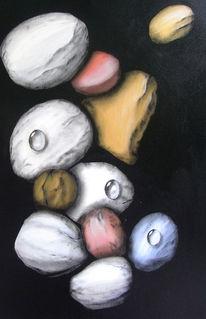 Stein, Tropfen, Malerei, Figural