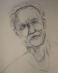 Alter mann, Zeichnung, Portrait, Zeichnungen