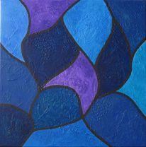 Komposition, Fläche, Linie, Blau