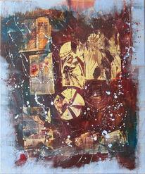 Bauzaun, Malerei, Abstrakt