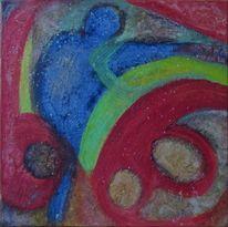 Traum tanz begegnung, Malerei, Abstrakt, Traum