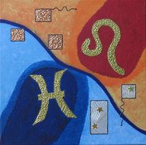 Sternzeichen, Fische, Symbol, Löwe