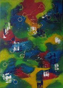 Abstrakt, Wahrnehmung, Malerei, Augen