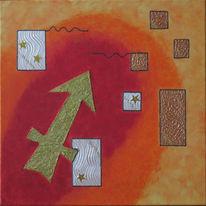 Schütze, Symbol, Sternzeichen, Malerei