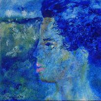 Blau, Ewig, Jung, Acrylmalerei