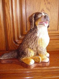 Figur, Kunsthandwerk, Holz, Hund