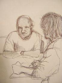Mann, Kugelschreiber, Opa, Aufsatz