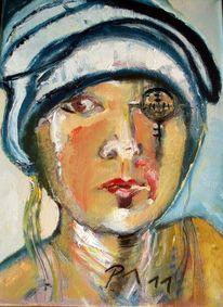 Farben, Selbstportrait, Ölmalerei, Malerei