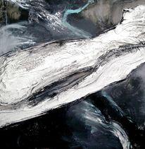 Acrylmalerei, Gips, Abstrakt, Schwarz weiß