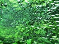 Grün, Fluss, Fotografie, Abstrakt