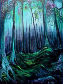 Traum, Wald, Wurzel, Dämmerung