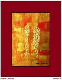Abstrakt, Rot, Farben, Rahmen