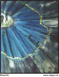 Farben, Acrylmalerei, Blausicht, Schön