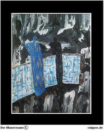 Mauermann, Rahmen, Acrylmalerei, Malerei