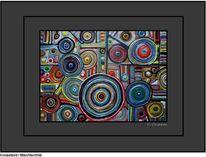 Ölmalerei, Linde, Kreiselbild von cnipper, Mischtechnik