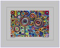 Acrylmalerei, Kreisel, Farben, Mischtechnik