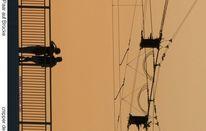 Köln, Brücke, Menschen, Luft