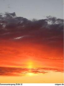 Sonne, Farben, Rot, Wolkenschön