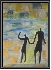 Malerei, Menschen, Sohn, Vater