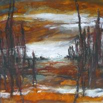 Terrakotta, Herbstfarben, Braun, Wald