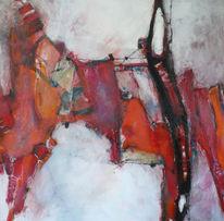 Rot schwarz, Abstrakt, Linie, Malerei