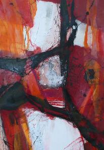 Sommer, Fokussieren, Rot schwarz, Abstrakt
