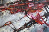 Linie, Grau, Abstrakte malerei, Abstrakt