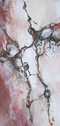 Abstrakt, Schwarz weiß, Malerei, Herbstfarben