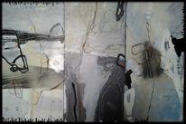 Muster, Schwarz, Triptychon, Dreiteilig