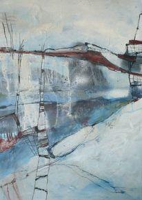 Phantasielandschaft, Abstrakte malerei, Landschaft, Braun