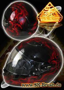 Motorradhelm, Airbrush, Motorrad, Helm