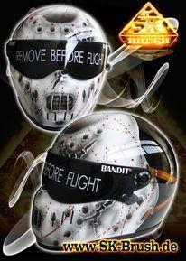 Motorradhelm, Helm, Brutal, Maske