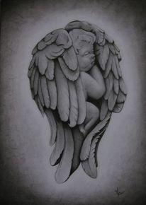 Zeichnungen, Portrait, Engel