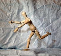 Puppe, Laufen, Frankreich, Figur