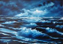 Himmel, Welle, Meer, Wolken