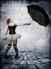 Digitale kunst, Surreal, Regenschirm
