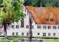 Kloster, Blaubeuren, Aquarell