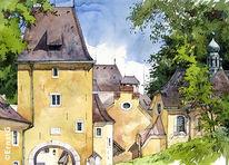 Gebäude, Landschaft, Salzburger land, Kapelle