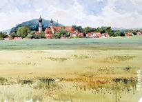 Kirche, Kapelle, Landschaft, Schloss