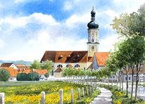 Kloster, Kirche, Brauerei, Malerei