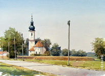 Lohkirchen, Erdinger moos, Malerei, Pflanzen