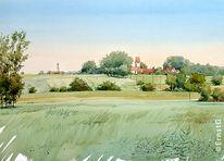 Aufhausen, Landschaft, Getreidefelder, Rummertshofen