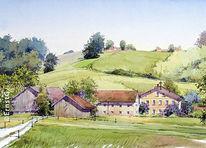 Stadel, Vierseithof, Bauernhof, Niederbayern