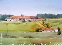 Scheyern, Bauernhof, Sommer, Steinkirchen
